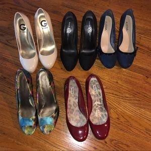 High heel shoe bundle, size 8 1/2